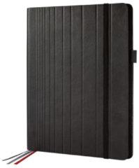 Business Organiser Conceptum Flex Kunstleer, A4, zwart, leeg, 3 metalen geleiders elastieksluiting, pennenlus en insteekvakken
