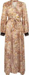 Witte Tramontana | Jurk met Art Deco Print | Print Whites | Maat L | jurk voor Vrouwen | jurk Dames