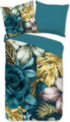 Blauwe Hoogwaardige Katoen Eenpersoons Dekbedovertrek Demy | 140x200/220 | Fijn Geweven | Ademend En Zacht