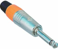 Neutrik NP2CVERNICKELT Jackplug 6.35 mm Stekker, recht Aantal polen: 2 Mono Zilver 1 stuks