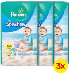 Pampers Splashers Maat 3-4 (6-11 kg) 36 wegwerpbare zwemluiers