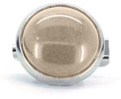 Qoss Broche Crème Steen - 12mm