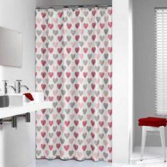 Rode Sealskin amor douchegordijn textiel 180x200cm polyester rood 235241359
