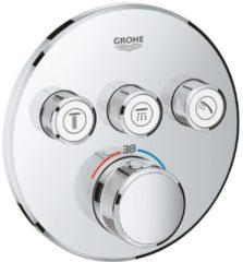 Grohe Grohtherm SmartControl inbouw thermostaatkraan met 3 knoppen voor bediening van bijv. hoofddouche, handdouche, zijdouche, baduitloop, of andere