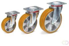 Fetra Zwenkwiel 160 x 50 mm, Polyuretaan wiel