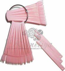 Korneliya Tipwaaier - Color Pops - nagel display - nep nagels - presentatie voor gellak, gelpolish en nagellak - oefentips - display sticks - 50 stuks RECHT ROZE