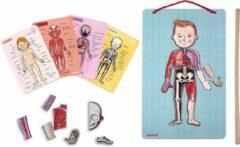Janod leer het menselijk lichaam kennen magnetische puzzel