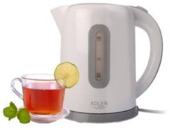 Adler AD 1234 - Draadloze waterkoker - 1.7 Liter - wit - 2200 watt