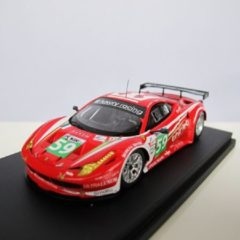 FUJIMI by True Scale Miniatures FUJIMI 1:43 Ferrari 458 Italia GT2 Luxury Racing #59 Le Mans 24h 2011