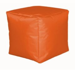 Sitzwürfel Hocker Sitzkissen Nylon orange 40x40x40 cm Linke Licardo Orange