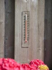 Muurthermometer plexiglas 21x4x0,8cm Nature