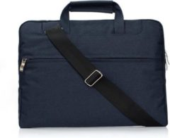 ARQuality Universele Laptop hoes tas met Schouderband voor o.a. Laptop / Note book 13.3. inch - Blauw