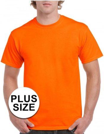 Afbeelding van Gildan Grote maten fel oranje shirt voor volwassenen 4XL