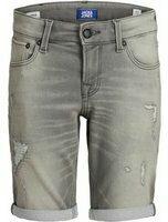 Jack & Jones! Jongens Bermuda - Maat 140 - Grijs - Jeans