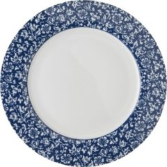 Blauwe Laura Ashley Blueprint Bord Plat Sweet Allysum 26 cm