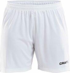 Craft Squad Short Solid dames Sportbroek - Maat XL - Vrouwen - wit/zwart