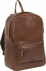 Bruine Justified Bags Titan Lederen Backpack / Rugtas Brown