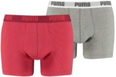 Rode Puma basic boxer 2p - Sportonderbroek - Heren - red - XL