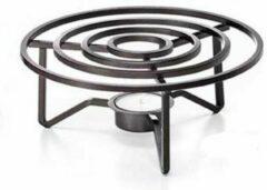 Zwarte ChaCult Theelicht van staal - Doro - Universeel