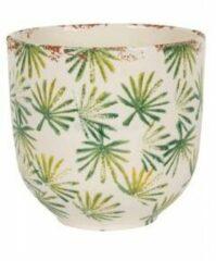 NDT International Bowl Grenada Light groen S 15x14 cm lichtgroene palm ronde bloempot voor binnen