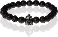 Zwarte Memphis kralen armband Lavasteen Gladiator Black