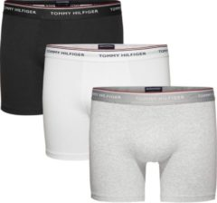 Tommy Hilfiger - Heren 3-Pack Brief Boxershorts Grijs Zwart Wit - S