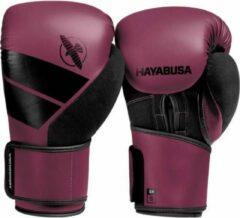Donkerrode Hayabusa S4 Bokshandschoenen - Wijnrood - 14 oz - met gratis Zwarte Perfect Stretch Handwraps