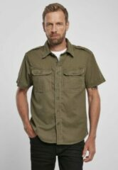 Urban Classics Overhemd -6XL- Vintage Groen