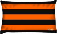 Velits outdoor Buitenkussen gestreept oranje zwart