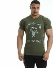 Kaki Gold's gym Classic Camouflage Joe T-shirt leger - M