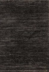 Antraciet-grijze Impression Rugs Design Collection Loft Effen Antraciet vloerkleed Laagpolig - 80x150 CM
