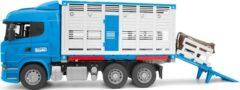 Bruder® speelgoedauto vrachtwagen 03581, Scania R-serie auto voor veevervoer met 1 koe