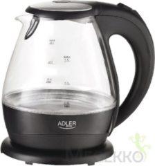 Zwarte Adler ad 1224 glazen waterkoker met led verlichting 1.5 liter