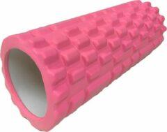 Merkloos / Sans marque Foam roller - Fitness roller - Roze - 34cm x 15cm