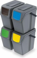Grijze Prosperplast Sortibox scheidingsbakken set 4x25L ISWB25S4