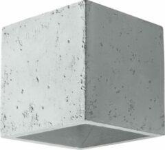 Grijze Sollux Lighting Quad W Concrete - Beton - Wandlamp - G9