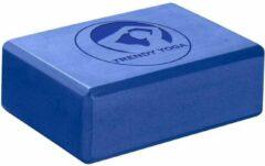 Trendy Sport Yoga blok - Yogablok - Yoga Block - 23 cm lang - 15 cm breed - 7.5 cm dik - Blauw