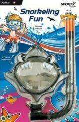 Sportx Haai - Snorkelset - Kinderen - Zwart