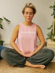 Roze Yogashirt.nl Yoga Tanktop Savasana Biokatoen - S