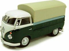 Groene Cararama VW T1 Pick Up met Huif
