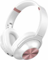 Maxam EJ-1302 On-ear Bluetooth koptelefoon - Wit/Rosegoud