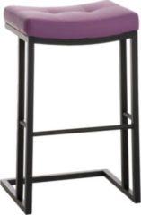 CLP Schwarzer Metall Barhocker NEPAL mit Kunstlederbezug - aus bis zu 11 Farben wählen - Sitzhöhe 78 cm, einfach bequem sitzen