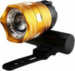 Merkloos / Sans marque Led Fietslamp - USB oplaadbaar - goud - Fietsverlichting
