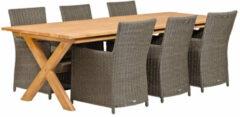 Van Kooten Tuin en Buitenleven Teak dinner tafel Rustiek 2 | Tafel L350xB100xH80cm