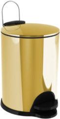 Afvalemmer Staand Allibert Coperblink 3 Liter Glanzend Goud