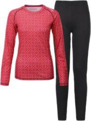 Tenson Sportshirt - Maat 38 - Vrouwen - Oranje/roze/zwart