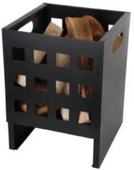 Zwarte Esschert Design Vuurkorf Ruit - Vierkant Laag