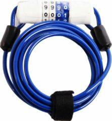 D - CYCLING Fietsslot Kabelslot Cijferslot 180cm x 4mm Blauw - Combinatieslot - Combination Lock - Fiets , scooter- Fietsslot Combinatie - combinatie fietsslot - fietsslot met code