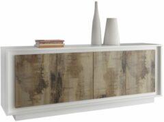 Pesaro Mobilia Dressoir SKY 207 cm breed - Wit met Eiken