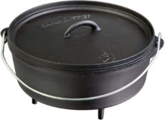 Zwarte Camp Chef Dutch Oven Classic Braadpan Ø 30 cm
